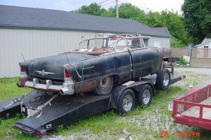 Rare Black 1955 Packard Caribbean convertible project car with 2dr 400 hardtop Photo