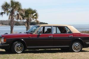 1987 Rolls Royce Silver Spur Claret/ Garnet and Tan