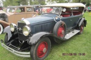 1929 Studebaker President 7 Passenger Dual Sidemount Dual Windshield Touring