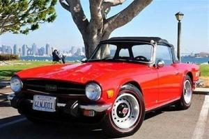 1974 TRIUMPH TR6 ROADSTER RED EXCELLENT INSIDE & OUT CLASSIC SPORTY BEAUTIFUL