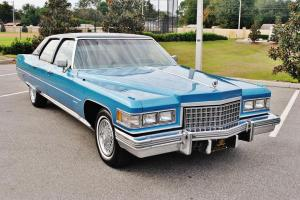All so very rare 1976 Cadillac Fleetwood Talisman just 62,008 miles bucket's wow