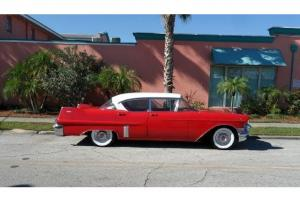 57 Cadillac 4 Door Hard Top 365 V8 Engine Automatic Two Tone Paint  A/C