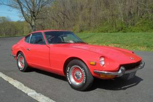 1972 Datsun 240z antique sports car orange coupe