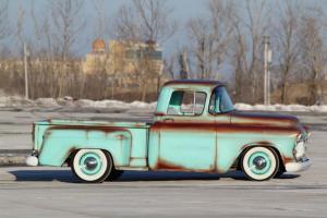 1956 Chevy pickup shortbed Patina hot rod custom RestoMod rat low street rod !!!