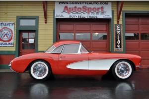 1956 Venetian Red #'s Matching Automatic Rare Power Convertible Top Corvette