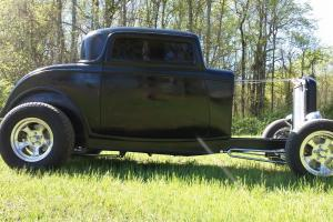 1932 ford three window coupe roller project fiberglass new body hot rat rod