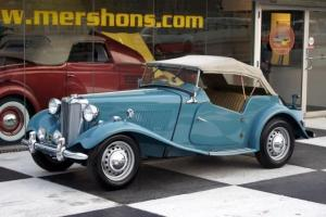1951 MG TD Clipper Blue with Tan Interior Drives Great!