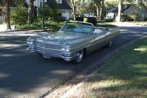 1964 Cadillac convertible RARE Sierra Gold 429 last year of the fins