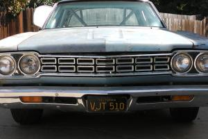 1968 PLYMOUTH PRO STREET BELVEDERE CALIFORNIA BLACK PLATE POST CAR