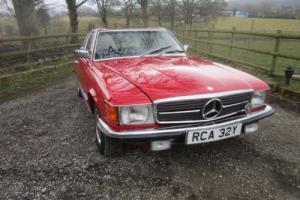 1983 MERCEDES - BENZ 280 SL (red)