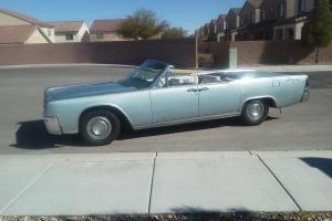 1964 Lincoln Continental Convertible Baby Blue w/ AC