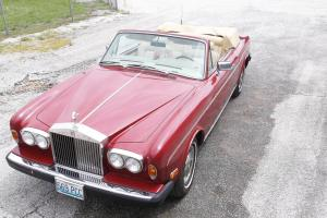 1983 Rolls-Royce Corniche II CONVERTIBLE  RED/TAN VERY LOW MILES