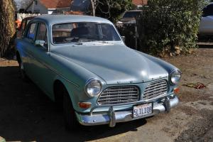 RARE 1962 blue Volvo P120 4-door.  In working condition Photo