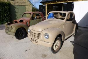 A PAIR OF FIAT TOPOLINOS FOR RESTORATION 500C'S 1955 BOTH RHD BOTH DISMANTLED Photo