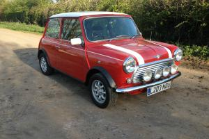 Rover Mini Cooper 1.3i classic shape Red with white roof minilites mot and tax