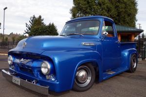 1954 Ford F100 Pickup Metallic Blue w/ Auburn interior 272 V8 4 Speed Manual