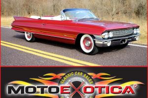 1961 CADILLAC CONVERTIBLE - ASTONISHING CONDITION! - MATCHING #'S!  BUCKET SEATS