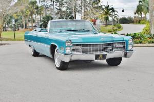 Stricking sweet 1966 Cadillac Deville Convertible just 78ks loaded rare color.