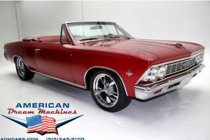 1966 CHEVELLE CONVERTIBLE RED ON RED