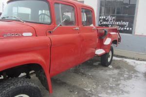 Red 1960 Dodge Power Wagon 100 Crew Cab Very Rare