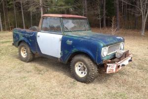 1969 International Scout 800A Truck, Removable Top, Great Project, 4x4 4wd RARE