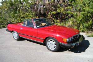 1982 Mercedes Benz 500SL R107 Red with Tan Leather and 71K Original Miles
