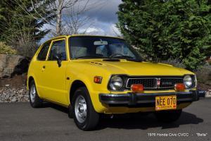 1976 Honda Civic CVCC 4cly 5spd Micro Japanese Mini Car, Excellent Driver, Clean