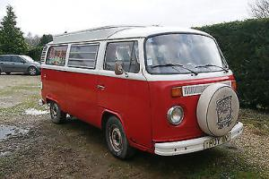 1975 T2 bay window Volkswagen camper van barn find