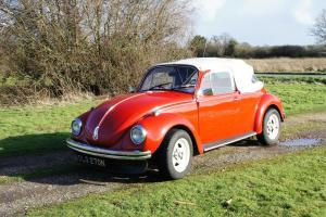 1974 VW Beetle 1302S Candy Apple Red Convertible Great Condition