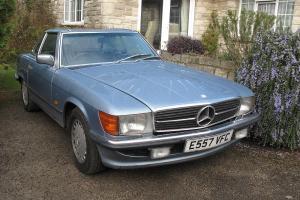 Mercedes Benz 500 SL (1987) in Diamond Silver Blue - High Spec Car