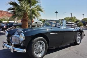 Black on Red 1963 Austin Healey 3000 MK2, 4 Speed Manual