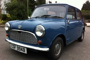 1964 AUSTIN MINI BLUE- 1 YEARS MOT...NO ADVISORIES... IN GREAT CONDITION AUCTION