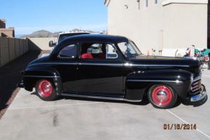 1948 ford 2 dr pro street street rod all steel,nut & bolt restored on a arizona