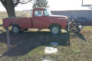 RARE 1957 A120 International Harvester 4X4 Smooth Side 4 Speed Pickup Truck Plow Photo