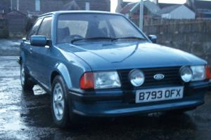 FORD ESCORT MK3 XR3i CLASSIC FORD SERIES1 OLD SCHOOL XR3 Photo
