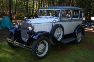 11931 Model A Ford Slant Window 4 door Sedan