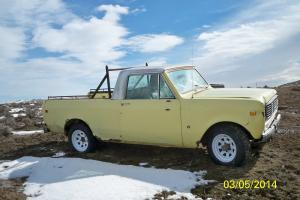 1976 International Scout II 1/4 ton Traveltop 4x4