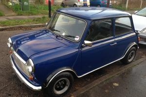 "Classic Mini 1981 Blue Retro 10"" Wheels MINT! No rust!"