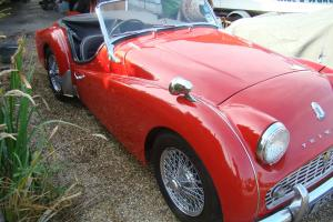 1960 TRIUMPH TR3A CAR RESTORED BY NORTHERN TR CENTRE IN THE 90'S