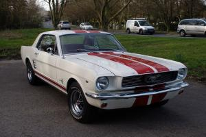 "1966 Ford Mustang 289 Auto Coupe White ""Stacey"""