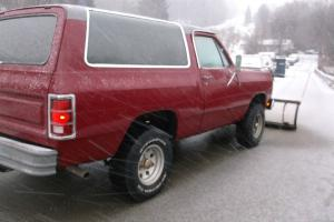 1984 Dodge Ramcharger 4x4 with sno way Plow 318 auto REAL NICE FOR AGE!  VIDEO!