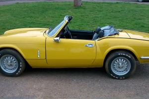 1981 Triumph Spitfire 1500 Yellow