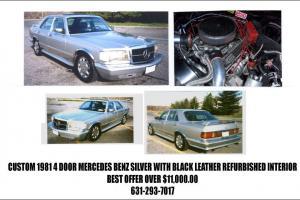 "The ""Chebenz"" - Custom 1981 4 Door Mercedes Benz Silver  Black Leather Interior"