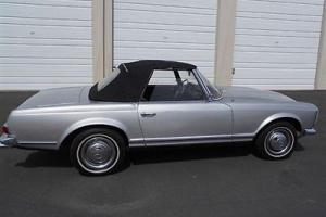 1964 MERCEDES BENZ 230 SL ROADSTER CLASSIC SILVER BLACK JUST SERVICED: