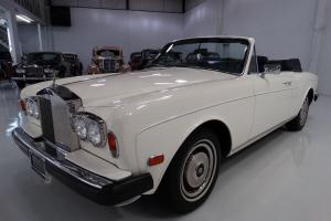1980 ROLLS-ROYCE CORNICHE CONVERTIBLE, EXTENSIVE SERVICE RECORDS, BOOKS, MANUALS