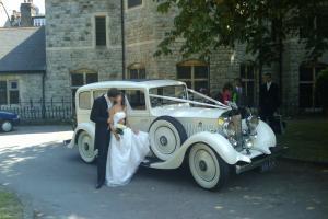 Vintage Rolls Royce wedding car limousine