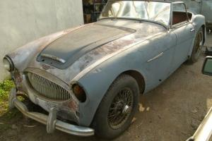 1962 Austin Healey 3000 MK II 2+2 RARE 3 Carb Motor Needs Total Restoration NR Photo
