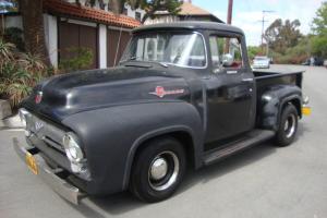 1956 Ford Big Window F-100, lifelong Rust Free California truck,orig black truck Photo
