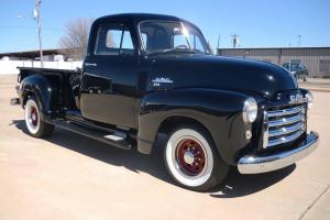 1951 GMC 100, longbed stepside pickup. ALL NEW. BLACK with Tan
