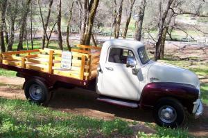 1954 GMC PICKUP TRUCK 4 SPEED /GRANNY LOW ORIGINAL 6CYL ONE PIECE WINDOW CALIF.!